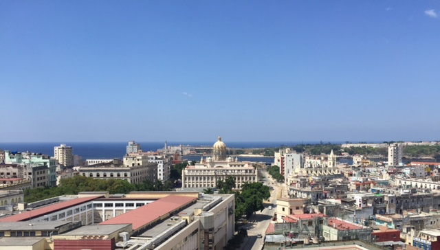 A beautiful view of the Old Havana from the Bacardi building
